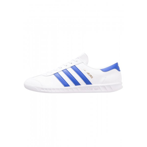 Damen / Herren Adidas Originals HAMBURG - Trainingsschuhe Low - Weiß/Kobaltblau/Gold Metallic
