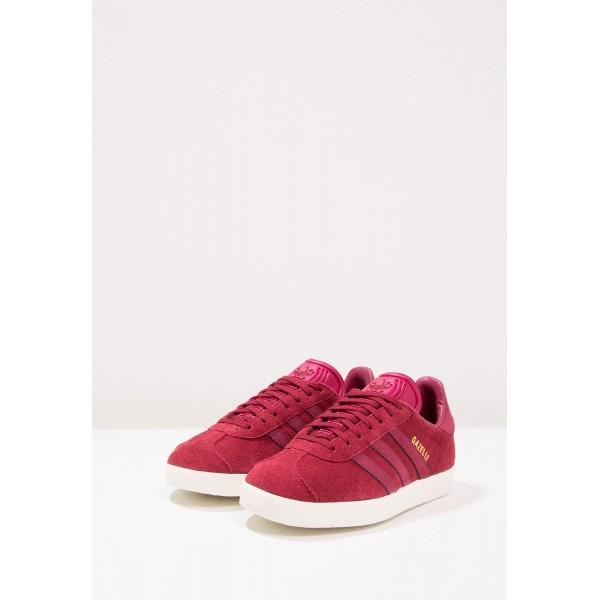 Damen / Herren Adidas Originals GAZELLE - Schuhe Low - Burgund/Maroon/Gold Metallic
