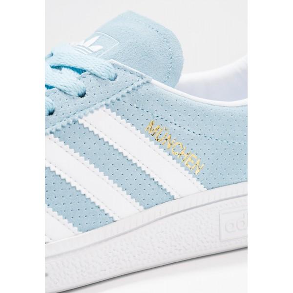 Damen / Herren Adidas Originals MUNCHEN - Fitness Footwear Low - Eisblau/Cyan Blau/Weiß/Footwear Weiß/Gold Metallic