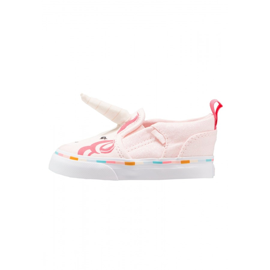 huge discount e9b68 fd24d Kinder Vans ASHER - Laufschuhe Low - Rosa/Coral Pink/Korallenrot