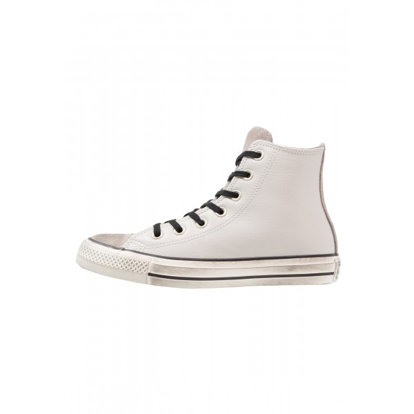 Damen / Herren Converse CHUCK TAYLOR ALL STAR HI LEATHER/SUEDE DISTRESSED - Laufschuhe Hoch - Pale Putty/Rauchweiß