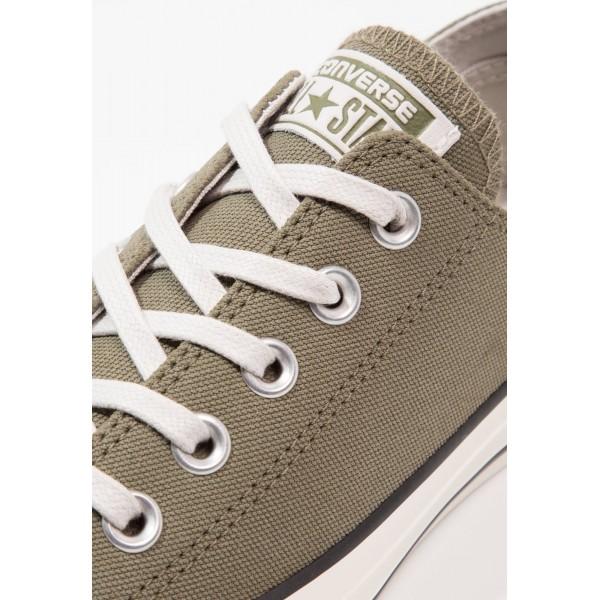 Damen / Herren Converse CHUCK TAYLOR ALL STAR WAX LEATHER - OX - Schuhe Low - Mittel Oliv/Schwarz/Reiher Weiss/Segel Weiß