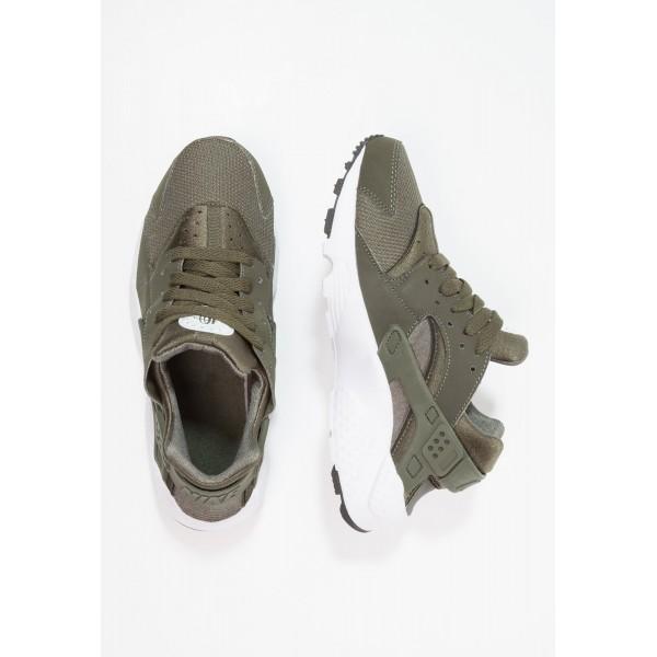 Damen Nike Footwear Für Sport HUARACHE RUN - Trainingsschuhe Low - Cargo Khaki/Dunkel Oliv/Weiß