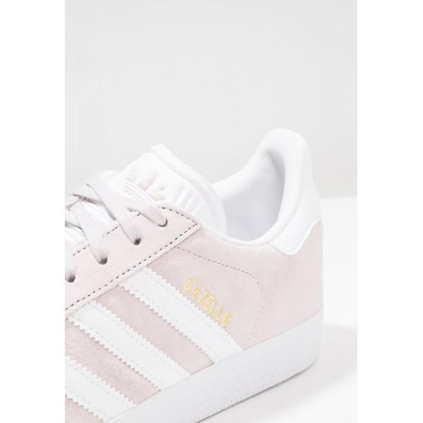 Damen / Herren Adidas Originals GAZELLE - Trainingsschuhe Low - Hell Cremeweiß/Weiß/Gold Metallic