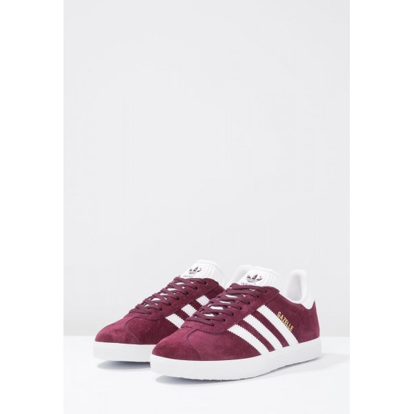 Damen / Herren Adidas Originals GAZELLE - Sportschuhe Low - Burgund/Weiß/Gold Metallic
