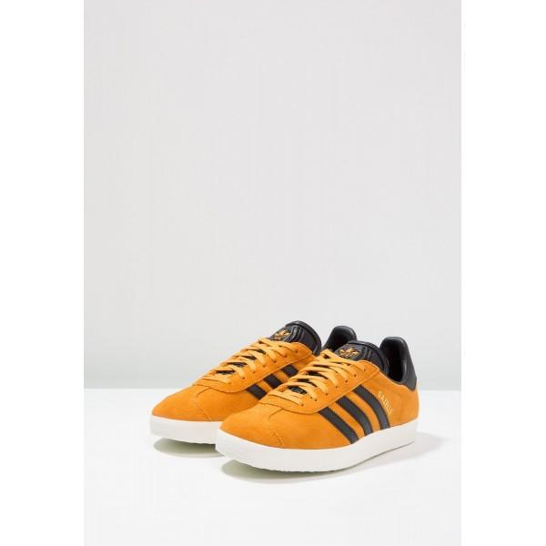 Damen / Herren Adidas Originals GAZELLE - Fitnessschuhe Low - Tactile Gelb/Anthrazit Schwarz/Core Black/Gold Metallic