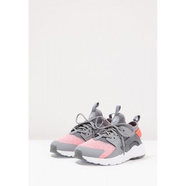 Kinder Nike Footwear Für Sport HUARACHE RUN ULTRA SE (PS) - Turnschuhe Low - Cool Grau/Mittelgrau/Hot Punch/Rein Platin