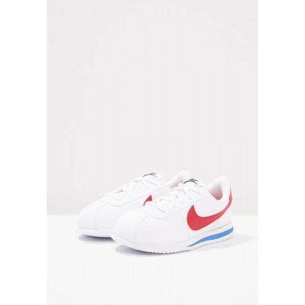 Kinder Nike Footwear Für Sport CORTEZ BASIC SL (PS) - Schuhe Low - Reines Weiß/Varsity Rot/Uni Rot/Königsblau/Royal
