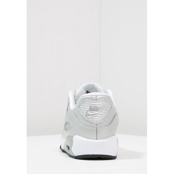Kinder Nike Footwear Für Sport AIR MAX 90 SE - Sneaker Low - Metallisch Platin/Rein Platin/Silber Metallic