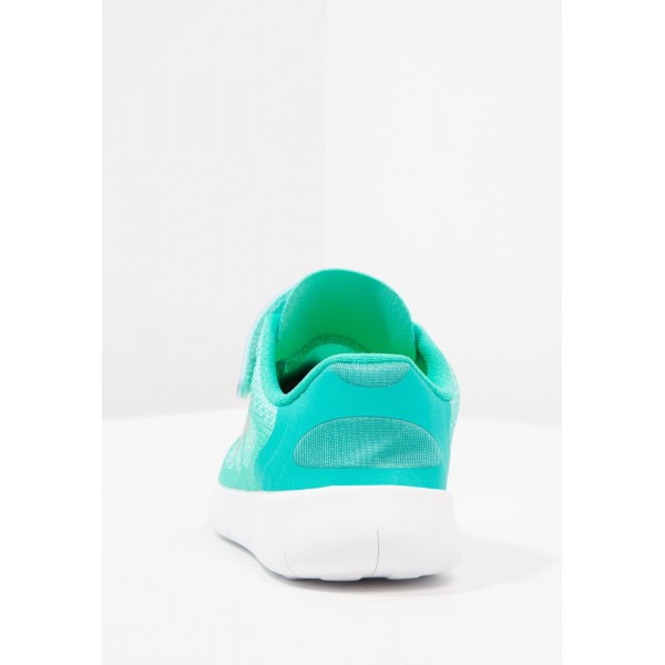 Kinder Nike Performance FREE RUN 2 - Natural Running Freizeitschuhe - Aurora Grün/Eisblau/Metallic Silber/Klar Jade/Volt