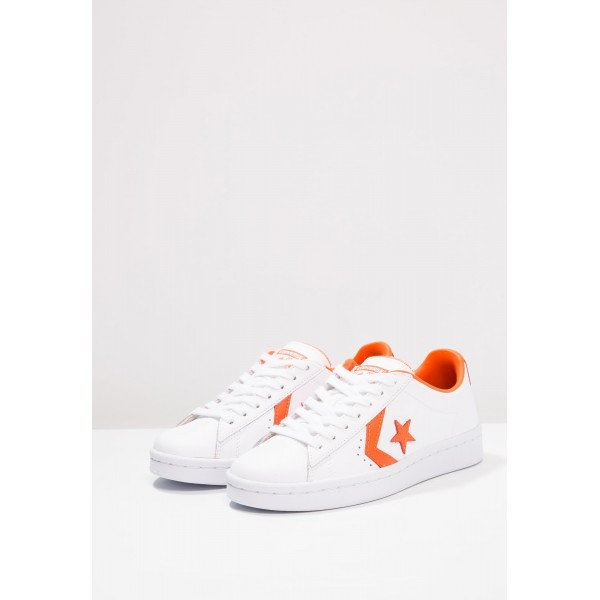 Damen / Herren Converse PL 76 ELEVATED - OX - Sportschuhe Low - Weiß/Mango Orange
