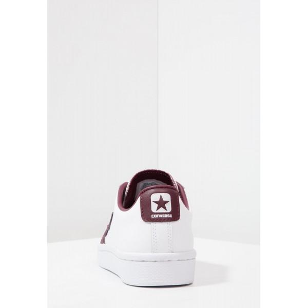 Damen / Herren Converse PL 76 ELEVATED - OX - Schuhe Low - Weiß/Dunkel Burgund