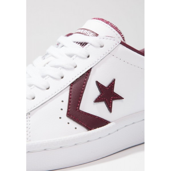 Damen / Herren Converse PL 76 ELEVATED - OX - Schuhe Low - Weiß/Dunkel Burgund