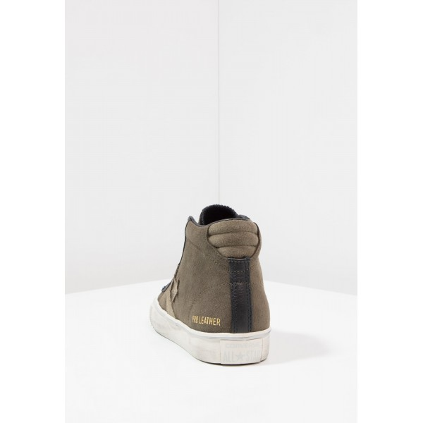 Damen / Herren Converse PRO LEATHER VULC MID SUEDE/LEATHER DISTRESSED - Trainingsschuhe Hoch - Tarmac/Schwarz/Turtledove Yeezy