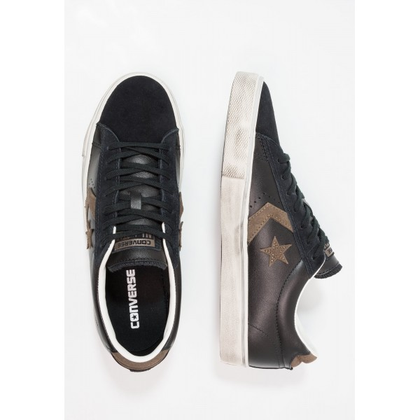 Damen / Herren Converse PRO LEATHER VULC OX SUEDE/LEATHER DISTRESSED - Trainingsschuhe Low - Schwarz/Schokolade/Turtledove Yeezy