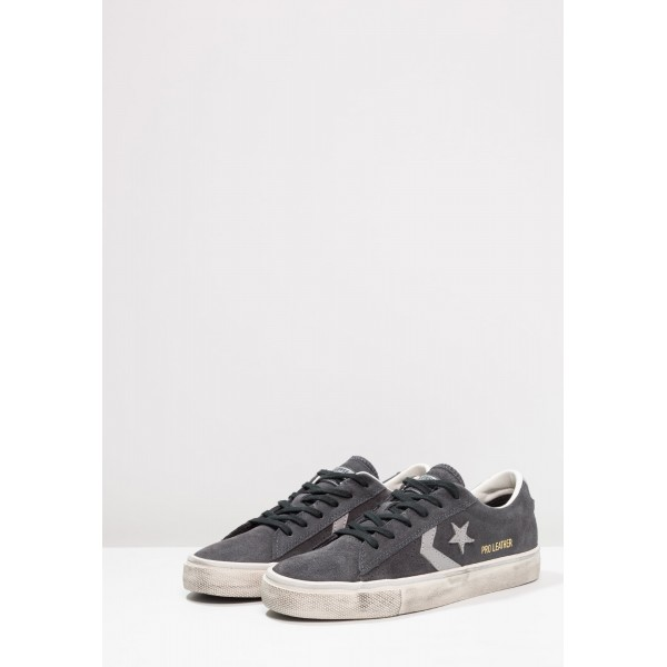 Damen / Herren Converse PRO LEATHER VULC OX SUEDE DISTRESSED - Sportschuhe Low - Almost Black/Mittel Taubengrau/Turtledove Yeezy