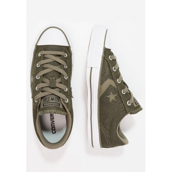Damen / Herren Converse STAR PLAYER HERRINGBONE - OX - Schuhe Low - Mittel Oliv/Weiß/Schwarz