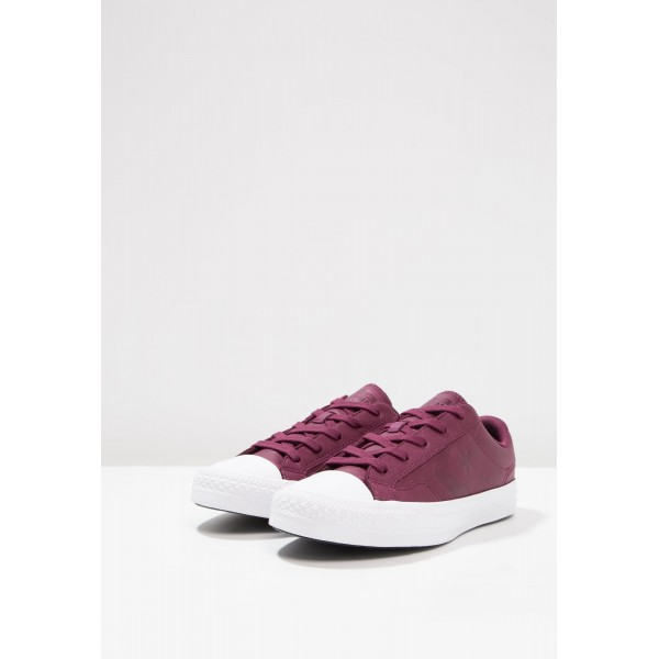 Damen / Herren Converse STAR PLAYER LEATHER - OX - Schuhe Low - Dunkel Sangria/Burgund/Schwarz/Weiß