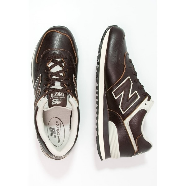Damen / Herren New Balance ML574 - Schuhe Low - Dunkel Schokolade/Creme Weiß