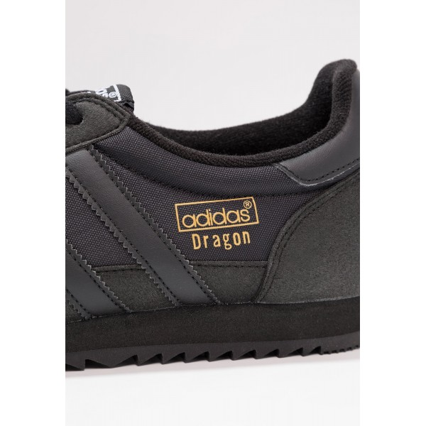 Damen / Herren Adidas Originals DRAGON OG - Turnschuhe Low - Voll Anthrazit Schwarz/Core Black