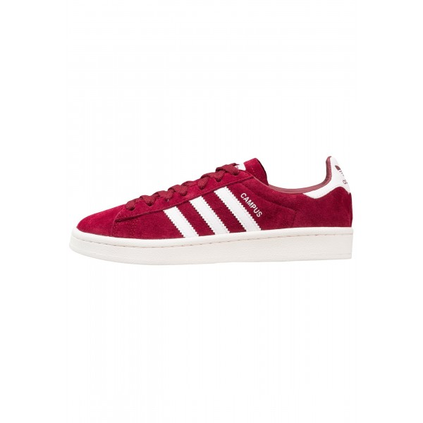 Damen / Herren Adidas Originals CAMPUS - Trainingsschuhe Low - Burgund/Hell Firebrick Rot/Weiß