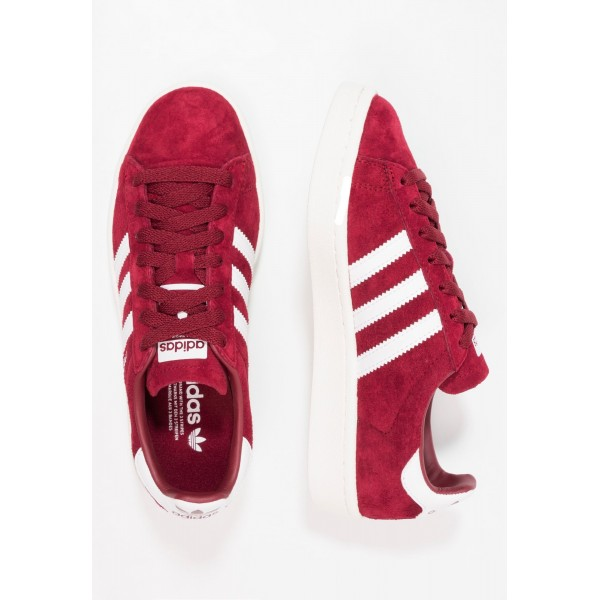Damen / Herren Adidas Originals CAMPUS - Trainingsschuhe Low - Burgund/Hell Firebrick Rot/Weiß