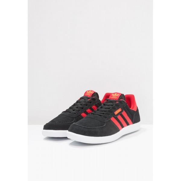 Damen / Herren Adidas Originals LEONERO - Laufschuhe Low - Anthrazit Schwarz/Core Black/Scharlachrot/Hochrot/Tactile Gelb
