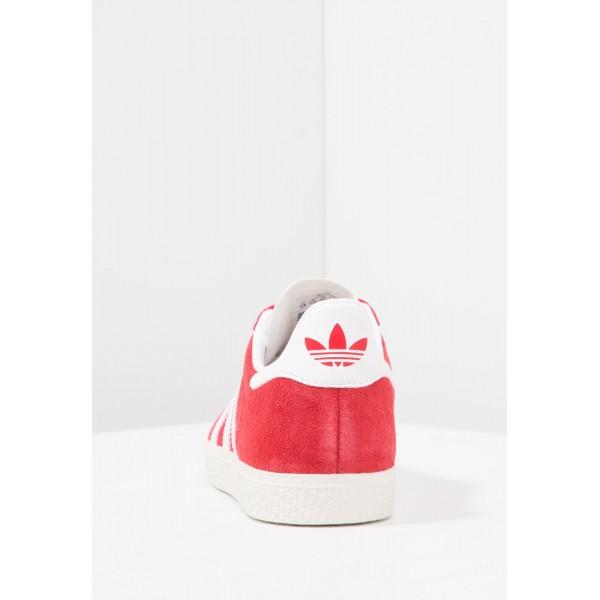 Kinder Adidas Originals GAZELLE C - Fitnessschuhe Low - Scharlachrot/Hochrot/Weiß/Gold Metallic