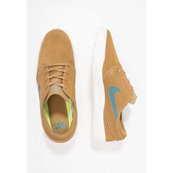 Damen / Herren Nike SB STEFAN JANOSKI HYPERFEEL - Laufschuhe Low - Golden Beige/Dunkelblau/Sail
