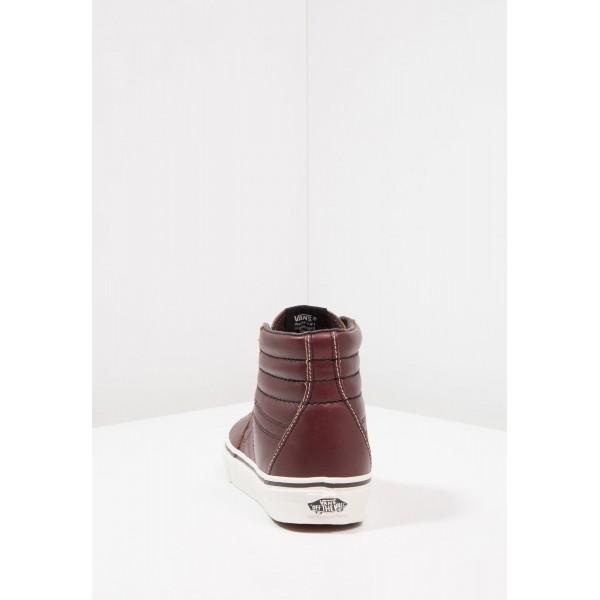 Damen / Herren Vans SK8 - Freizeitschuhe Hoch - Rum Raisin/Dunkel Rot