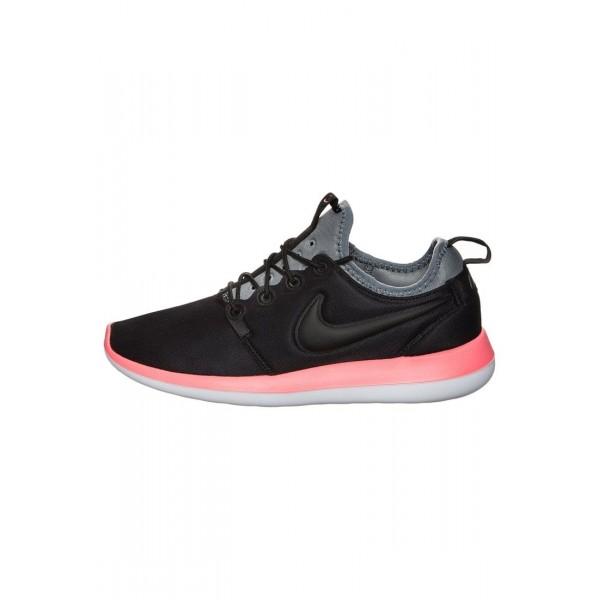 Damen Nike Footwear Für Sport ROSHE TWO - Sportschuhe Low - Anthrazit Schwarz/Cool Grau/Hot Punch