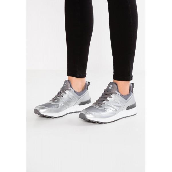 Damen New Balance Leder 574 WS Laufschuhe - Silber...