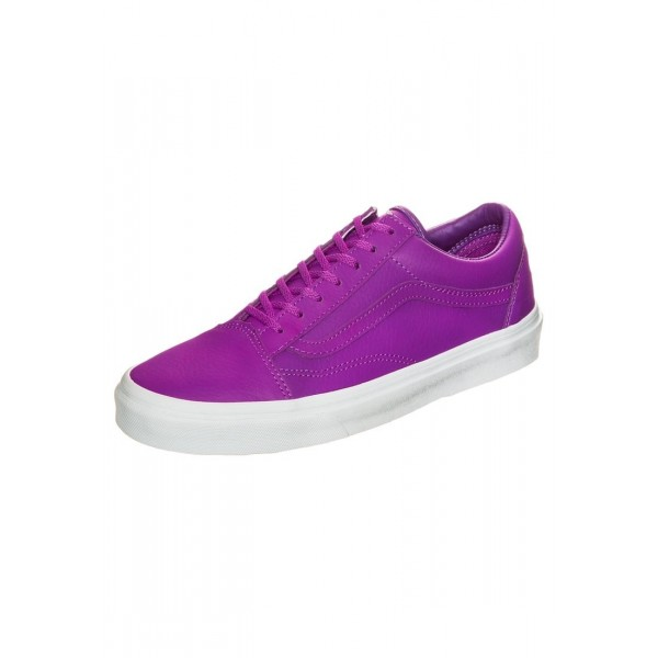 Damen Vans OLD SKOOL - Sportschuhe Low - Neon Lila/Fuchsia Violet/True Weiß