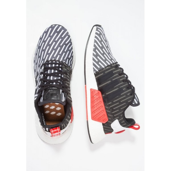 Damen / Herren Adidas Originals NMD_R2 PK - Sport Sneakers Low - Anthrazit Schwarz/Core Black/Weiß