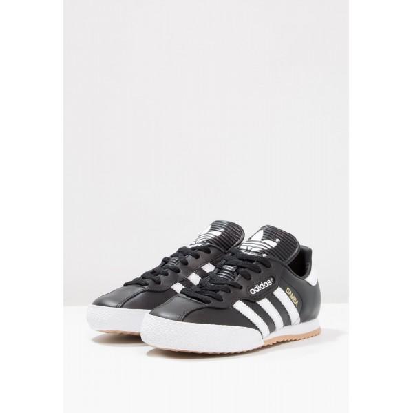 Damen / Herren Adidas Originals SAMBA SUPER - Laufschuhe Low - Obsidian Schwarz/Weiß/Footwear Weiß