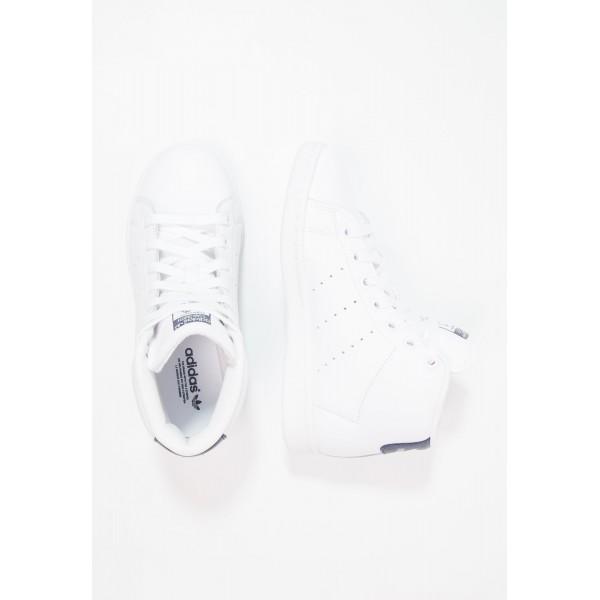 Damen / Herren Adidas Originals STAN SMITH MID - Trainingsschuhe Hoch - Weiß/Footwear Weiß/Mitternachtsblau