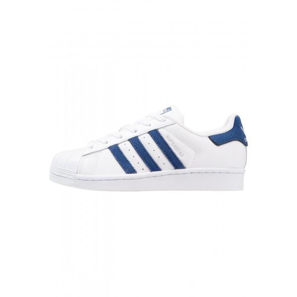 Damen / Herren Adidas Originals SUPERSTAR - Laufschuhe Low - Weiß/Footwear Weiß/Dunkel Jeans Blau/Tiefblau