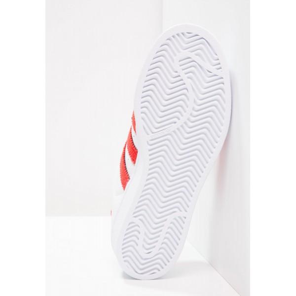 Damen / Herren Adidas Originals SUPERSTAR - Fitnessschuhe Low - Weiß/Footwear Weiß/Scharlachrot Rot/Solar Rot