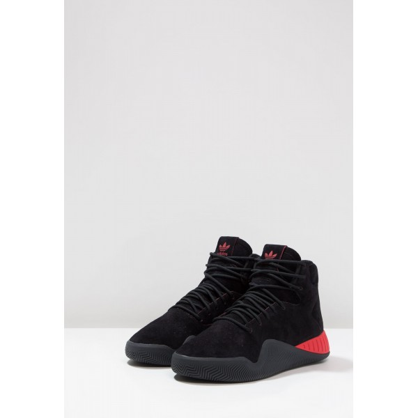 Damen / Herren Adidas Originals TUBULAR INSTINCT - Freizeitschuhe Hoch - Anthrazit Schwarz/Core Black/Scharlachrot/Hochrot