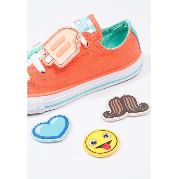 Kinder Converse CHUCK TAYLOR ALL STAR LOOPHOLES - Trainingsschuhe Low - Mango Orange/Sweety Mintgrün/Weiß