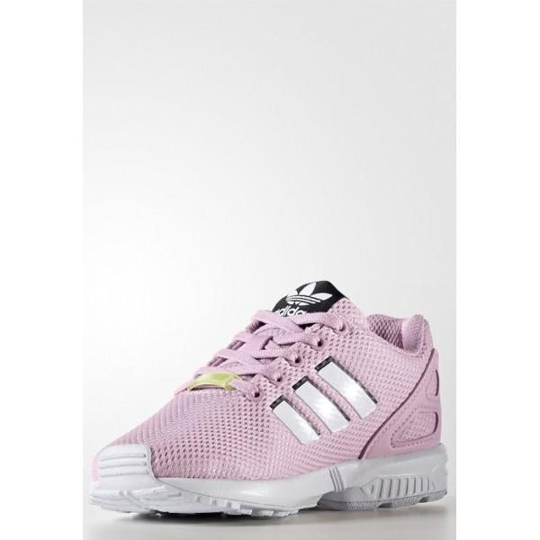 Kinder Adidas Originals ZX FLUX - Trainingsschuhe Low - Misty Rose Pink/Weiß/Footwear Weiß/Schwarz