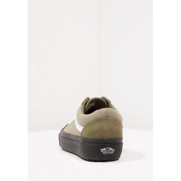 Damen / Herren Vans UA OLD SKOOL WAFFLESAW DX - Sneaker Low - Dunkel Oliv/Sand Braun/Weiß