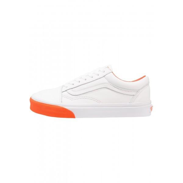 Damen / Herren Vans UA OLD SKOOL - Schuhe Low - True Weiß/Mango Orange