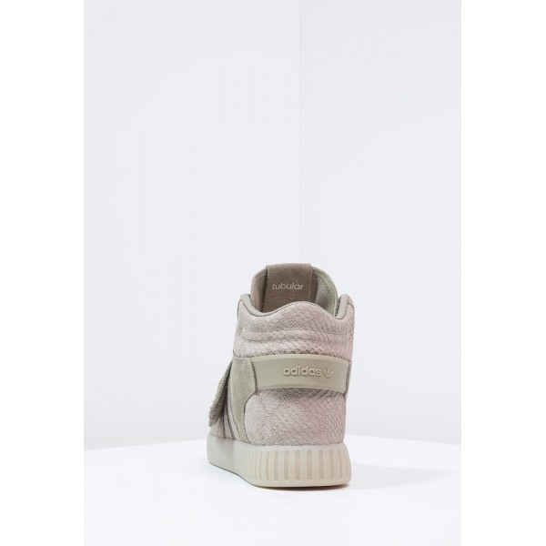 Damen / Herren Adidas Originals TUBULAR INVADER - Laufschuhe Hoch - Khaki/Hellgrau