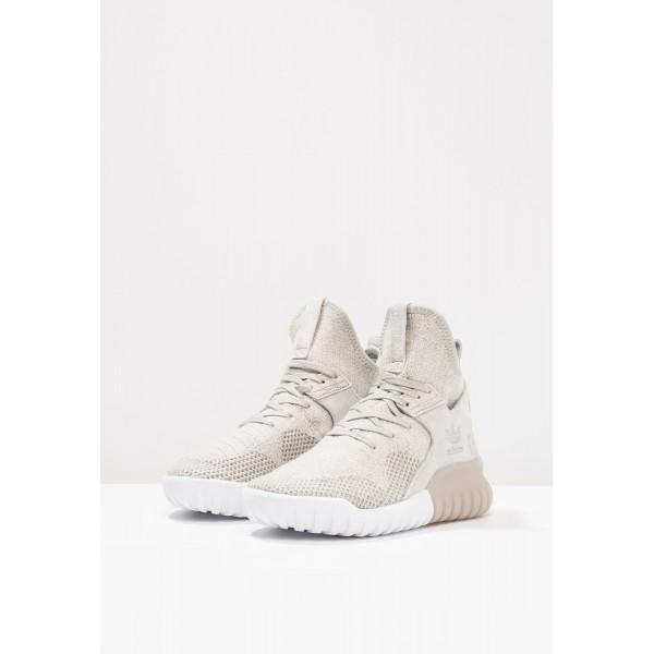 Damen / Herren Adidas Originals TUBULAR X - Laufschuhe Hoch - Hellgrau/Elfenbein Weiß/Hellgrün