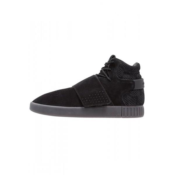 Damen / Herren Adidas Originals TUBULAR INVADER - Trainingsschuhe Hoch - Anthrazit Schwarz/Core Black/Utility Black