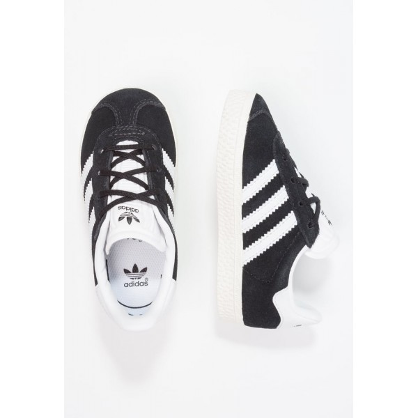 Kinder Adidas Originals GAZELLE I - Shoes Running Low - Anthrazit Schwarz/Core Black/Weiß/Gold Metallic