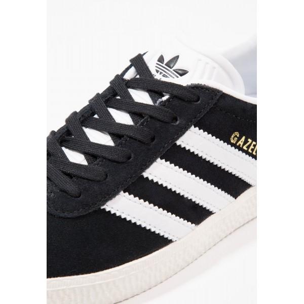 Kinder Adidas Originals GAZELLE - Schuhe Low - Anthrazit Schwarz/Core Black/Weiß/Gold Metallic