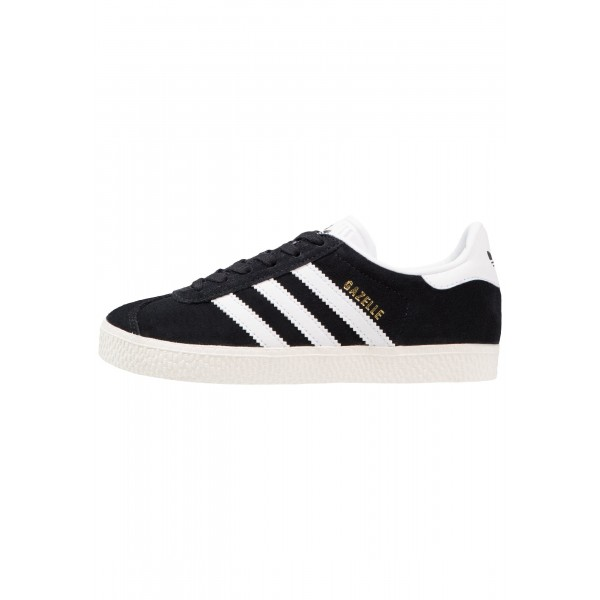 Kinder Adidas Originals GAZELLE - Schuhe Low - Anthrazit Schwarz/Core Black/Weiß/Gold Metallic