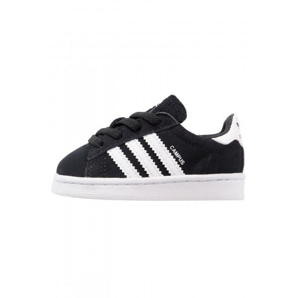 Kinder Adidas Originals CAMPUS EL I - Turnschuhe Low - Anthrazit Schwarz/Core Black